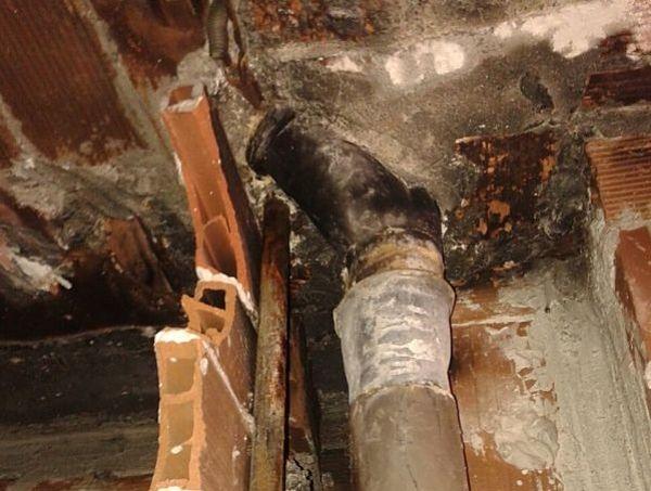 Tuberías de cocinas oxidadas