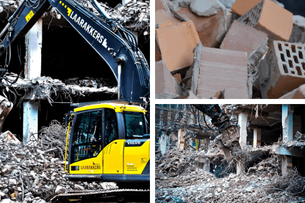 Trabajos de demolición de edificios